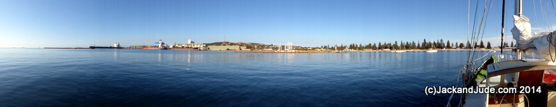 Our anchorage at Esperance