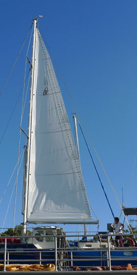 new mainsail not to specs