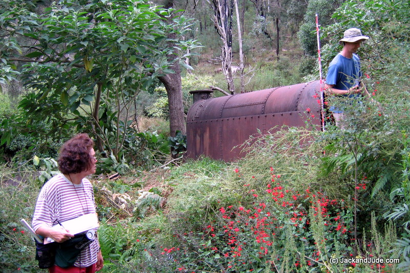 The boiler, made in England, brought in by bullock cart then lost to forest growth