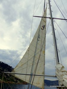 old sail flying