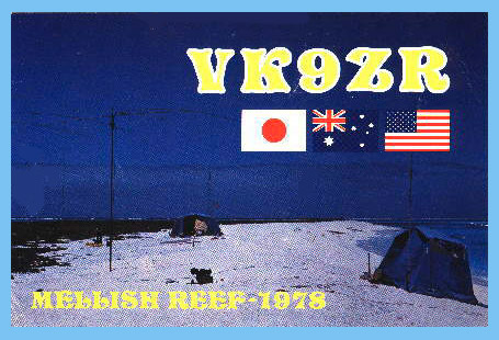 1978 Mellsih Reef VK9ZR QSL Card