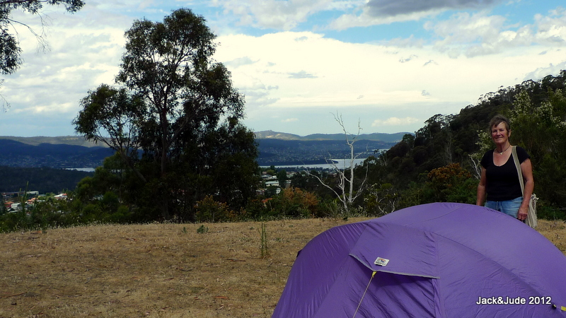 Downtown Hobart just round the hillside