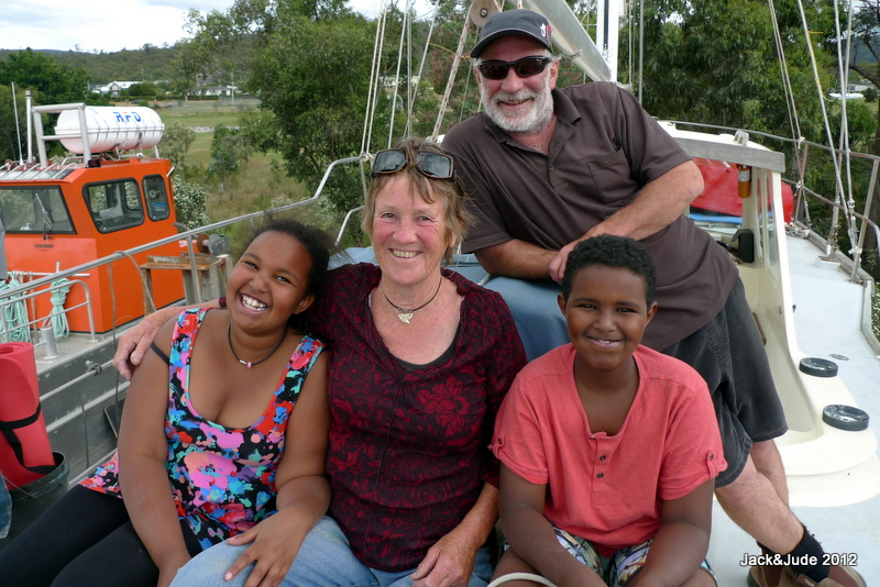 Munira and Mansour on board Banyandah