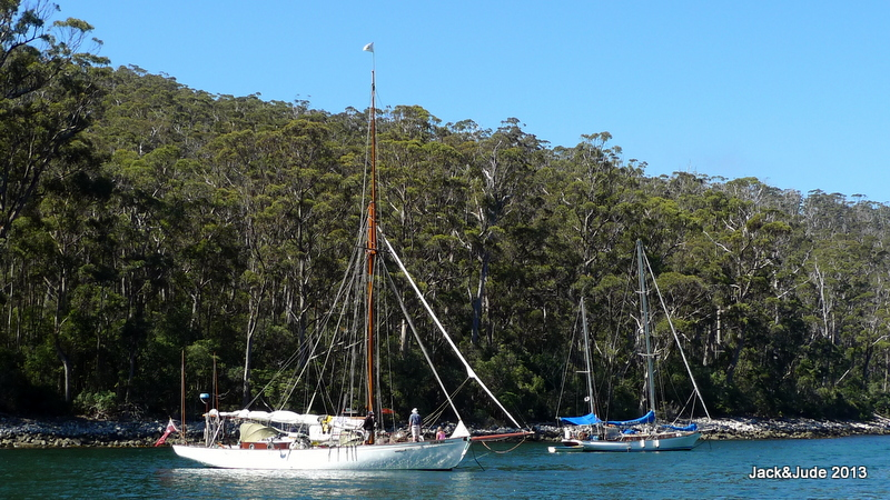 Storm Bay and Mi Querida timber vessels enroute to Hobart