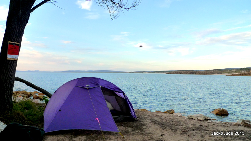 Campsite overlooking Marshall Bay at Emita Beach