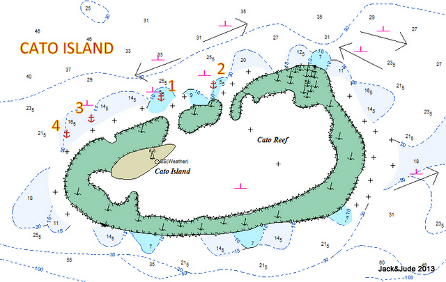 Cato Island anchorages