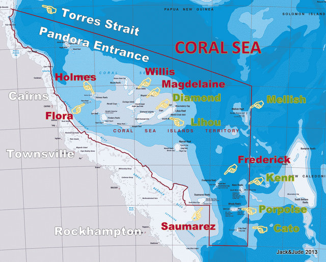 Coral Sea Coverage