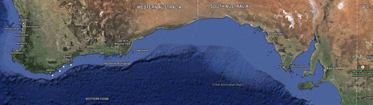Banyandah's southern ocean track