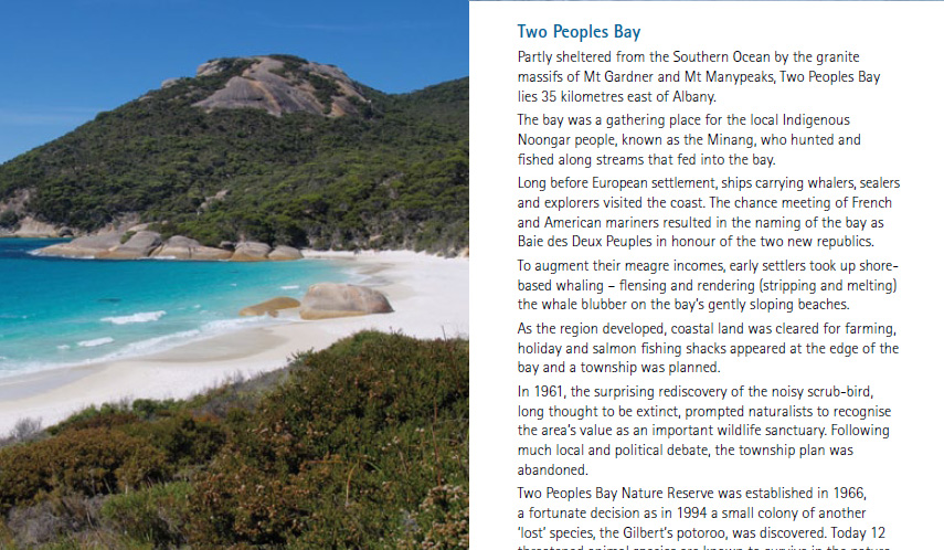 Two' Peoples Bay WA