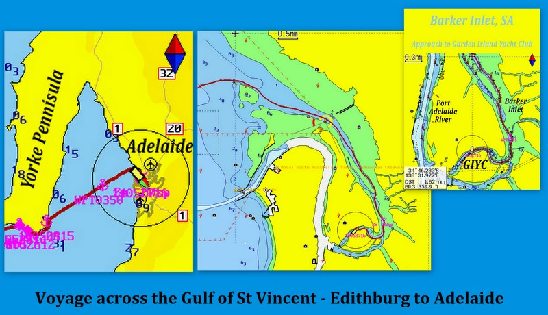 voyage across Gulf of St Vincent