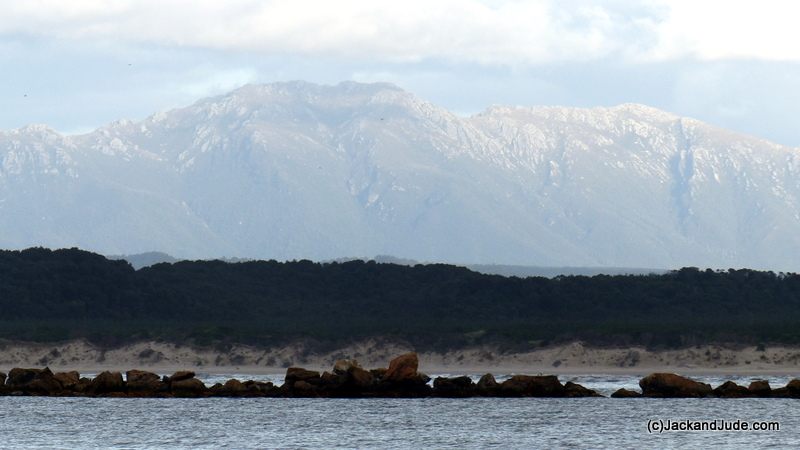 Mount Sorell dominates Macquarie Harbour