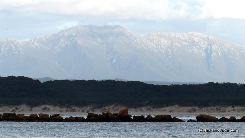 Mount Sorell dominates Macquarie Harbour