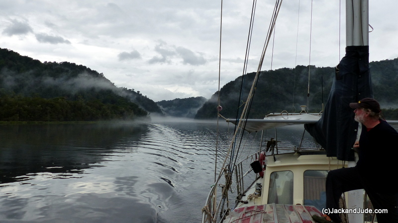 Motoring up the magical Gordon River