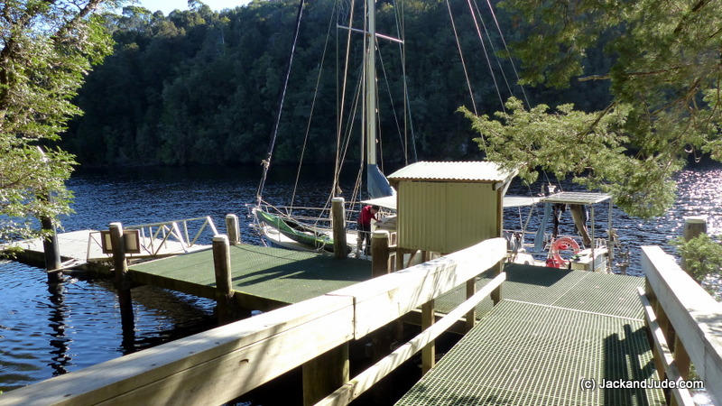 Alongside Sir John Falls jetty
