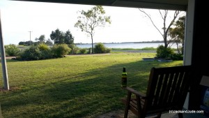View from our shed - good spot for a cold one!