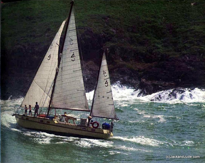 Banyandah in her original rig - Returning to Australia from Japan and South Pacific 1981