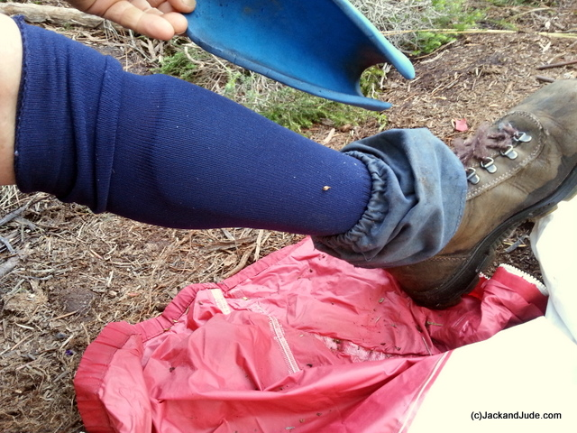 Shin guards made from camping mat