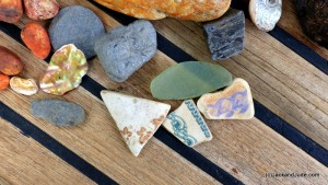 Stones and shards from Carver's Boatyard site