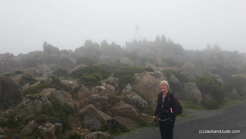 Misty top of Mt Wellington