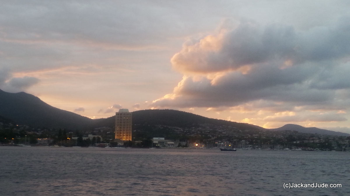 Hobart Town at base of Mount Wellighton