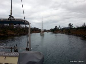 convoy through the Denison Canal