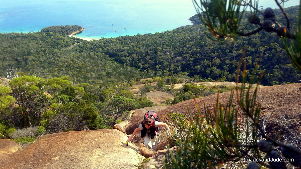 Climbing up Bear Mountain