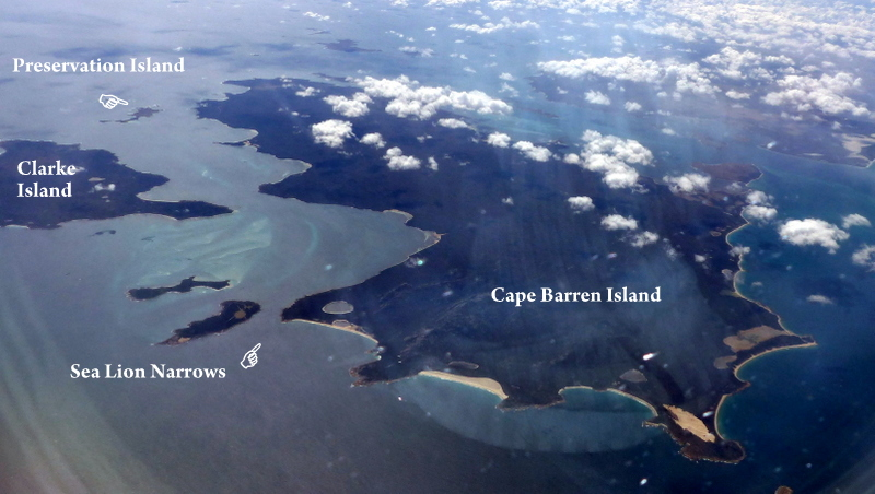 Sea Lion Narrows to Clarke and Perservation Islands - Cape Barren Island