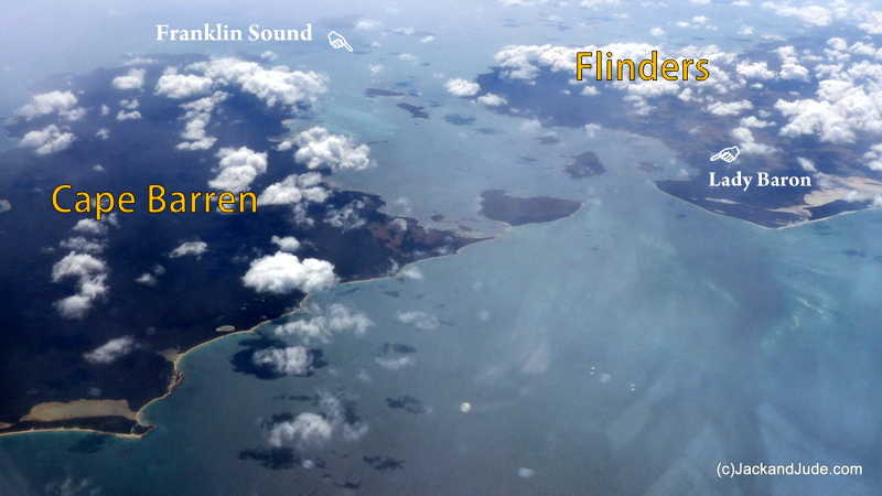 Franklin Sound seperating Cape Barren and Flinders Islands