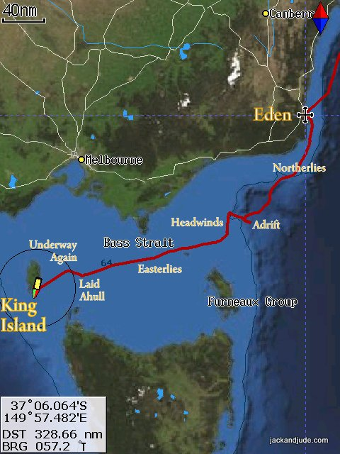 Sailing East to West through Bass Strait