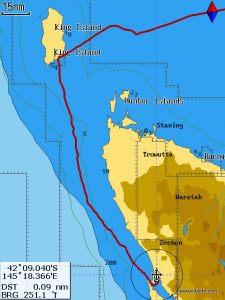 King Island to Macquarie Hbr 150 miles