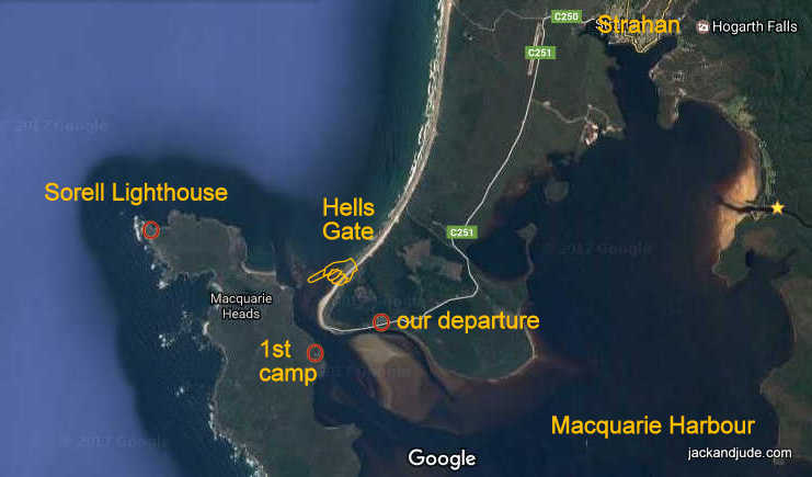Macquarie Harbour to Cape Sorell Lighthouse