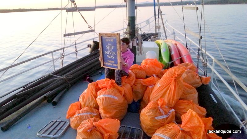 Macquarie Harbour Clean Up trash collected