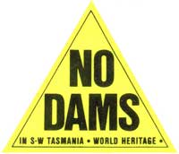Bumper Sticker from Dam Blockade