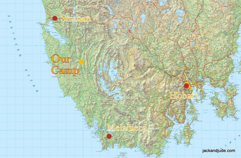 Camp Location Map