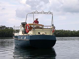 yacht Banyandah bare transom