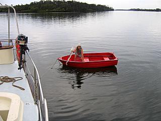 yacht Banyandah boat chores