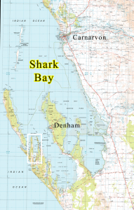 map of Useless Inlet Shark Bay WA