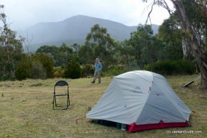 pup tent Mt Wellington