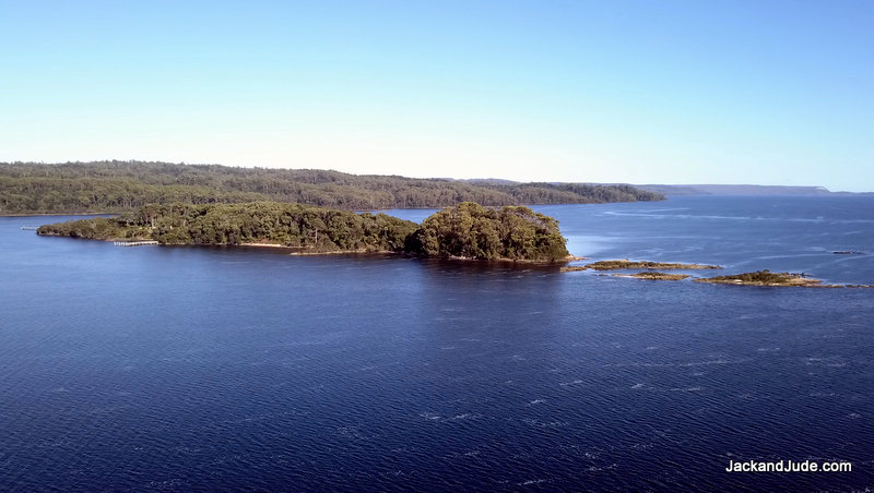 Sarah Island lies 18 N.Miles south of Strahan