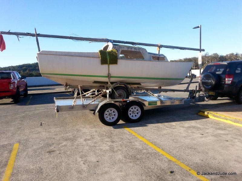 Careel 18 on car trailer