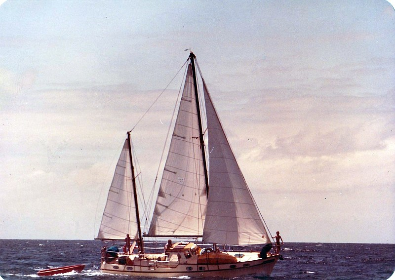 Banyandah sailing in 1984 - East Africa